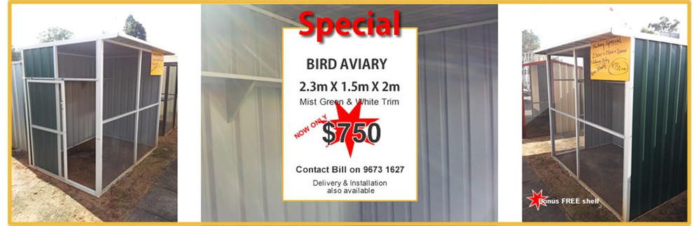 BIRD AVIARY from $750