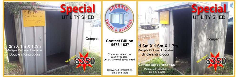 Utility Shed Specials